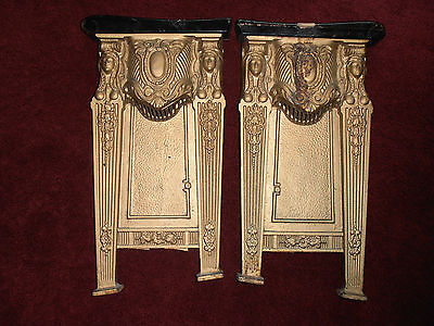 Rare Vintage Art Cast Iron Movie Theater Lighted Seat Ends American Seating 1927