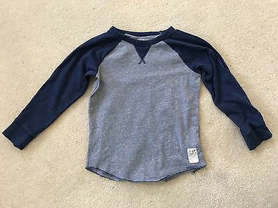 Baby GAP Blue Long Sleeve Top Boy's Toddler 5 Years 5T