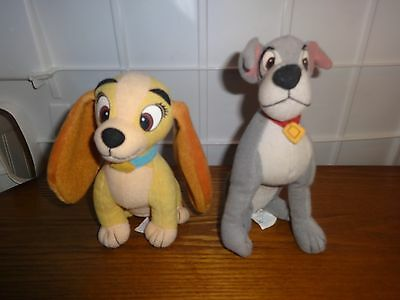 Lot of 2 DISNEY ~LADY AND THE TRAMP~ PLUSH  BEAN BAG  by  APPLAUSE