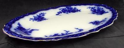Stanley Pottery TOURAINE (FLOW BLUE) Platter VERY GOOD CONDITION
