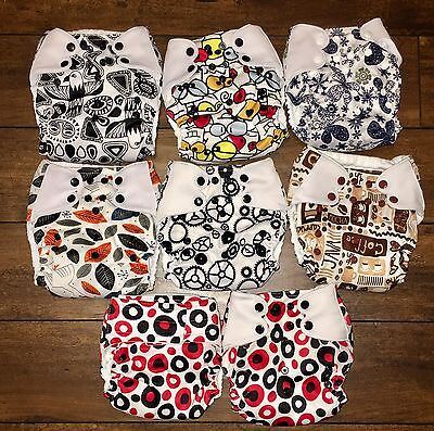 Baby Wizard Cloth Diapers, Lot Of 9