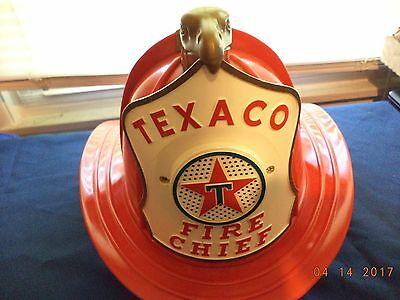 Vintage 1960s Texaco Fire Chief Hat w/Earpiece and Speaker