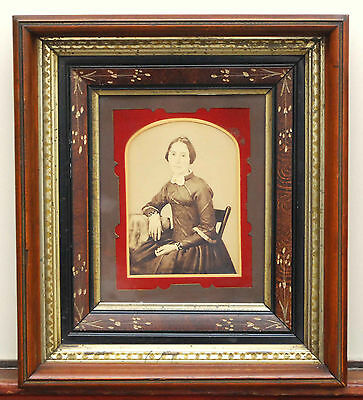 Antique Victorian Eastlake Aesthetic Deep Shadow Box Picture Frame Arts Crafts