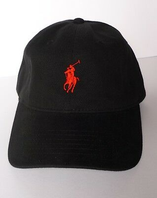 New Polo Hat Cap - Black Red Pony - Adjustable - US Seller - Get it Fast