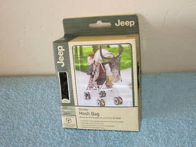 JEEP Baby Stroller Mesh Bag  Storage, Expandable, Durable Black