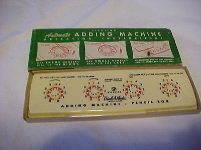 Vintage Sterling No. 565 Automatic Adding Machine With Box ***