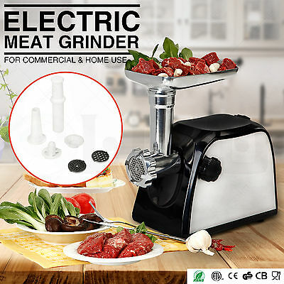 Commercial Meat Grinder Electric Stainless Steel Kitchen Home Sausage Stuffer