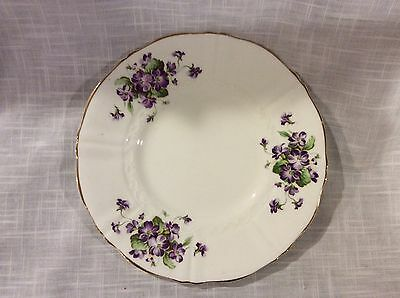 Vintage OLD ROYAL BONE CHINA Purple Floral Plate, made in England