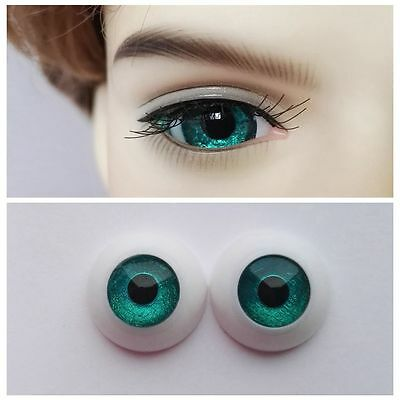 Dark Spring Green - BJD Eyes - 8mm 10 12 14 16 18 20 22 MSD SD13/10 Doll Dollfie