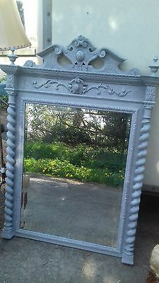 Large Antique French Original Painted Mirror From Giverny France