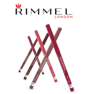 Rimmel Exaggerate Full Colour Twist Up Lip Liner - Various Shades - New
