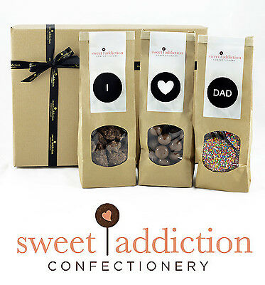 Sweet Addiction Premium Chocolate Father's Day Gift Hamper Box - I Love Dad