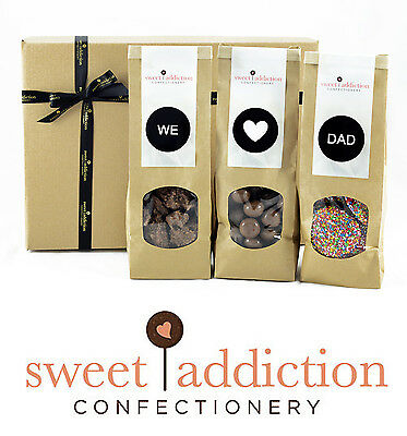 Sweet Addiction Premium Chocolate Father's Day Gift Hamper Box - We Love Dad