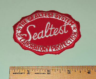 Vintage THE SEALTEST SYSTEM OF LABORATORY PROTECTION Sew On Patch 3 1/2 X 2 3/4