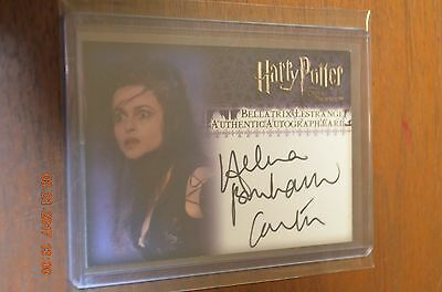 Harry Potter HELENA BONHAM CARTER as Bellatrix Lestrange Autograph Card OOPU