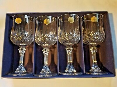 Cristal D'arques Longchamp Wine Glass Set Of 4 - 24% Lead Crystal