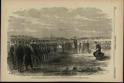 Execution of Deserter Army of the Potomac 1861 antique Harpers Civil War print