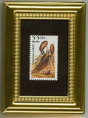 American Lobster -   A Glass Framed Collectible Postage Masterpiece!