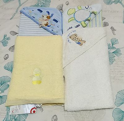 BNWT Baby Towel and 3 hooded baby Towels