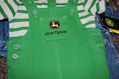 John Deere 2 pc Outfit 6 months New nwt snap tee shirt with romper set CUTE