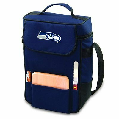 PICN-623041382842-NFL Seattle Seahawks Duet Insulated 2-Bottle Wine and Cheese