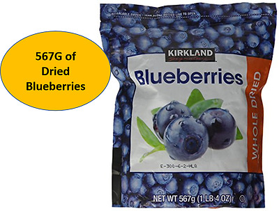 NEW Kirkland Signature Dried Blueberries 567G - Dried Blue berries
