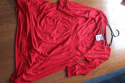 Ladies Long Sleeve Size 16 Red Dress