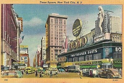 Vintage Postcard Of Times Square In New York City New York