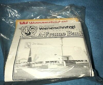 "WIENERSCHNITZEL PLASTIC A-Frame BANK NEW SEALED 2001 "" 40th Anniversary "" Rare"