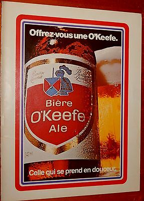 FRENCH 70s OKEEFE ALE BEER CANADIAN AD + BELVEDERE CIGARETTES ON THE BACK