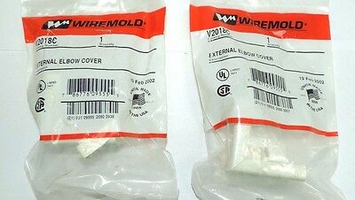"Lot of 2 Wiremold V2018C External Elbow Cover Ivory 1 1/4"" 1.25"" V 2018 C 2018C"