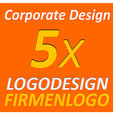 5x Logodesign Layout Service Firma Firmengründung Firmenlogo Corporate Design