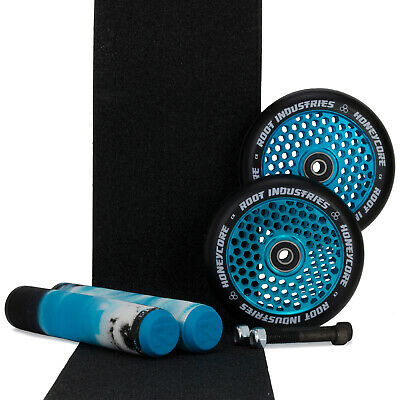 Root Ind Honeycore 110mm Blue Scooter Wheels + Arctic Grips +Tape Bonus Axle