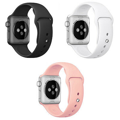 Silicone Rubber iWatch Band Wrist Strap Bracelet For Apple Watch 1/2 38mm/42mm