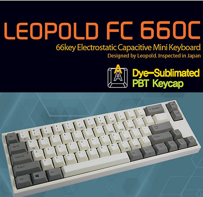 Leopold FC660C 66 key Electrostatic Capacitive Mini Keyboard (Topre Switch)