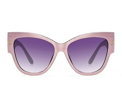 Women's Fashion Pink Sunglasses Eyewear Cat Eye Shades Oversized Sun Glasses