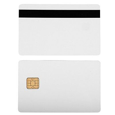 Blank White Identification Badges PVC Cards J2A040 Chip JAVA JCOP Cards w HiCo 2