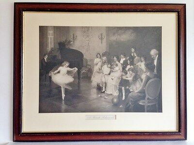 Very Large Vintage Framed Antique? Elsley Ballet Print 'a Private Rehearsal'