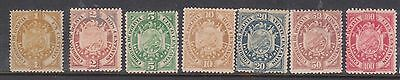 (U24-7) 1894 Bolivia mix of 7stamps 1c to 100c MNG (A)