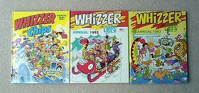 3 x Whizzer and Chips Annuals Books 1991 1992 1993