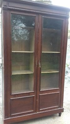Vintage French Cupboard/bookcase Liene Press With Key