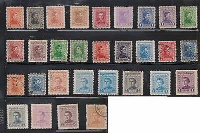 (U23-20) 1892-1970 Uruguay mix of 126stamp values to 1p (A)