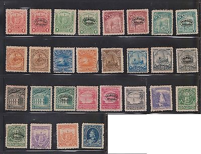 (U23-8) 1890s El Salvador mix of 108stamps values to 1P (A)