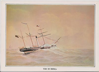 (K22-39) story of the post the SS IBERIA picture & text