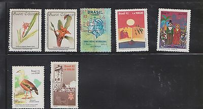 (U24-22) 1950-99 Brazil mix of 42stamps values to 90,000ct (D)