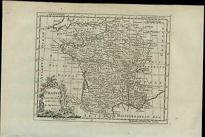 France country map 1779 Bowen scarce old antique engraved decorative map