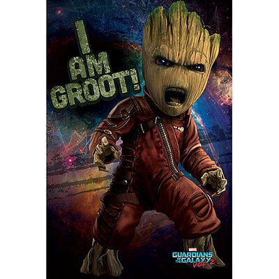 Guardians Of The Galaxy Vol. 2 - Baby Groot Angry POSTER 61x91cm NEW I Am Groot