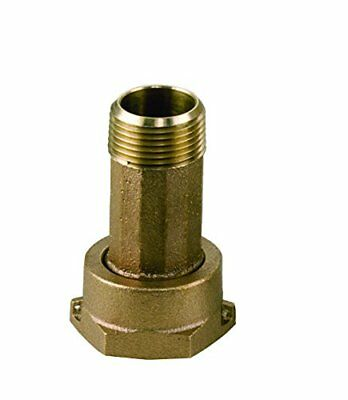 "Dake 3002A-LF Lead Free Brass Water Meter Coupling, 3/4"" Tailpiece and Nut"