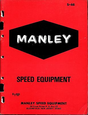 Vintage 1968 Manley Speed Equipment Dealers Catalog-Near Mint! With Price Sheets