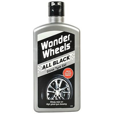 Wonder Wheels All Black Gloss Tyre Gel Dressing Shine Paint Wet Look 500ml